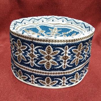 Teal embroidered muslim prayer cap