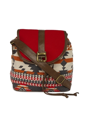 Red and blue Aztec back pack