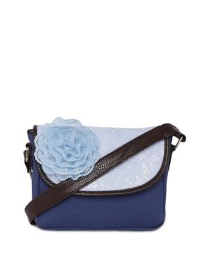 Blue flower small crotia sling bag