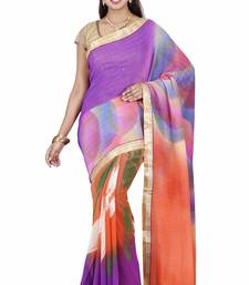 CLASSICATE fom the house of The Chennai Silks Women's Multicolor Georgette Saree With Blouse