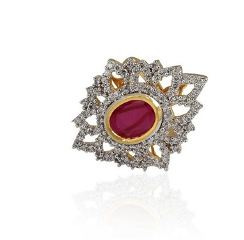 Heena Trendy Red Colour stone Ring >> HJRN12R <<