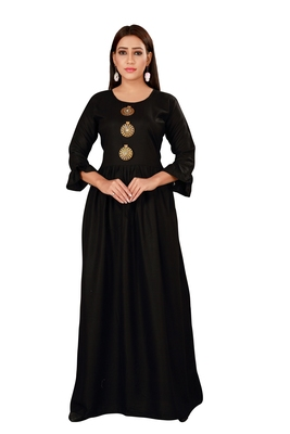 Black color ball type rayon Gown