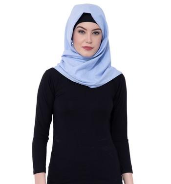 Ruqsar Sky Blue Square Headscarf Hijab