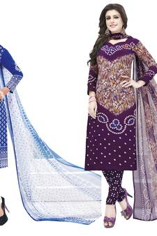 0e0ea36c212a00 Multicolor printed synthetic unstitched salwar with dupatta