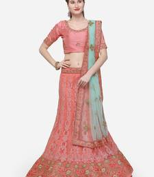1b1b5f7eacb Pink color Embroidered work Mulburin fabric Full Stitched crop-top ...