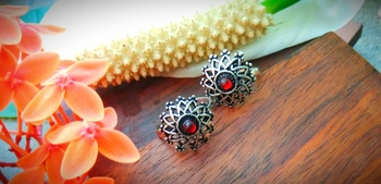 Red Stone Toe Rings