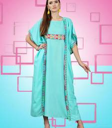 Sky Blue Rayon Graceful Designer Kurtis