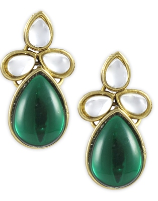 Karatcart Metal Dangle & Drop Women Green