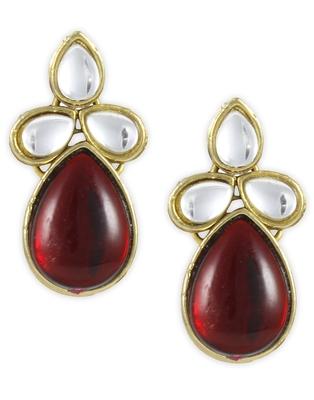 Karatcart Non Precious Metal Dangle & Drop Earings For Women   Red
