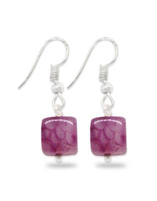 Karatcart Glossy Pink Stone Fish Hook Drop Earrings For Women