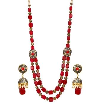Pink Onyx Necklace Sets