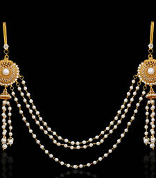 Ethnic Indian Bollywood Jewelry Set Pearl Polki Waist Band