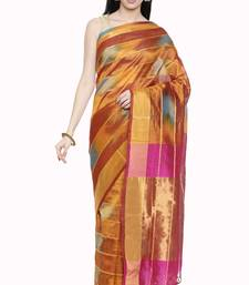 CLASSICATE from the house of The Chennai Silks Women's Multicolor Kora Silk Saree Wlth Blouse