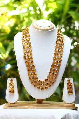 Mulitlayer kundan gold necklace set