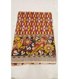 Traditional Ikat print kalamkari saree with blouse