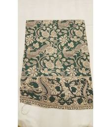 Traditional peacock print kalamkari saree with blouse