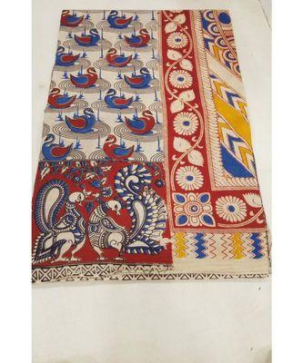 Traditional print kalamkari saree with blouse