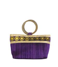 Buy Coin Embedded Boat Shaped (small shape) Bangle Bag (Purple) clutch online