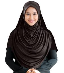 Mehar Hijab's Modest Women's Long Hijab iCRA Feel Good Fabric FAEEZAH HIJAB Formal Grey-Xl