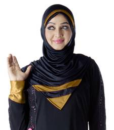 Rifah hijab black-gold-xl