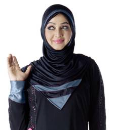 Rifah Hijab Black-grey-xl