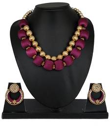 Purple designer-jewellery