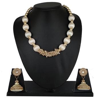 White designer-jewellery