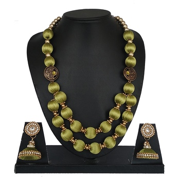 Green designer-jewellery