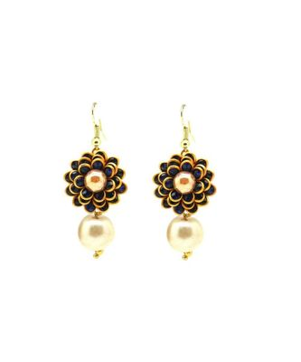 Flower Style Earrings For Women & Girls