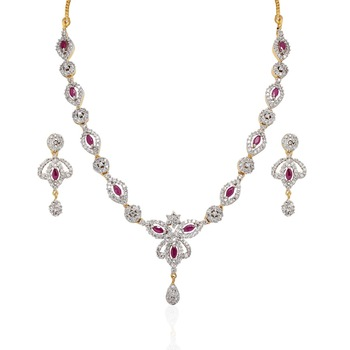 Heena Contemporary Floral collection Necklace set > HJNL61