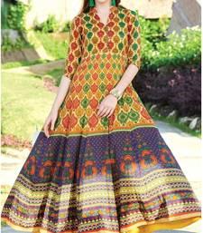 Multicolor printed cotton cotton kurtis