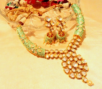 Kundanjadau  Hasli 22K Gold Plated Necklace Sets