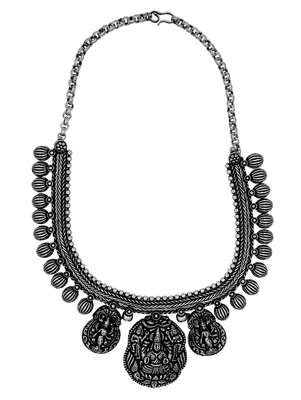 Zerokaata Chunky Pendant Tribal Style Fashion Necklace