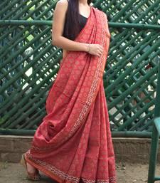 Maheshwari Block Print Saree Handloom