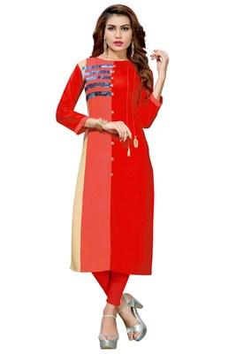 Women'S Multi Color Cotton Designer Kurti