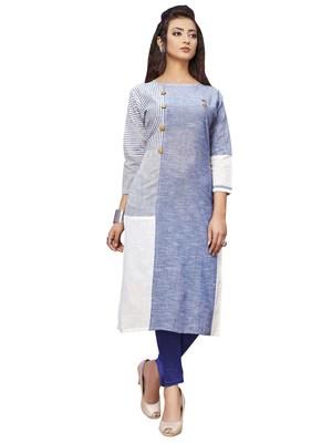 Women'S Multi Color Khadi Cotton Designer Kurti