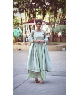 PASTEL BLING BELL DRESS WITH DUPATTA
