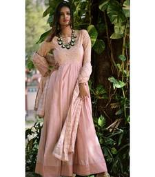 PASTEL PINK CUT DRESS WITH DUPATTA