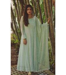 GREEN STAR DRESS WITH DUPATTA