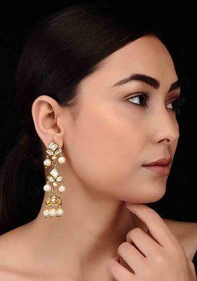 Kundan And Pearls Jhumki