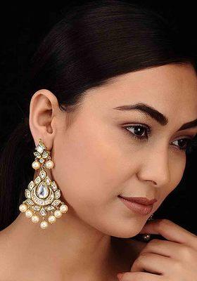 Kundan and Pearls Chandbaali