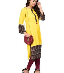Lemon printed rayon kurtas and kurtis