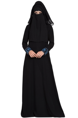 Black plain nida burka