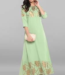Light-green printed crepe kurtas and kurtis
