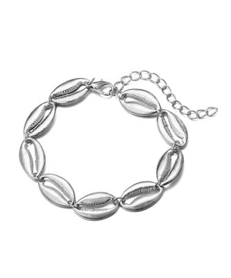 Milena Silver Shell Anklet