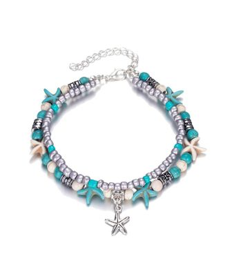 Adorable Starfish Beads Beach Anklet