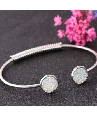 Casimire Sparkling Silver Cuff Bangle Bracelet