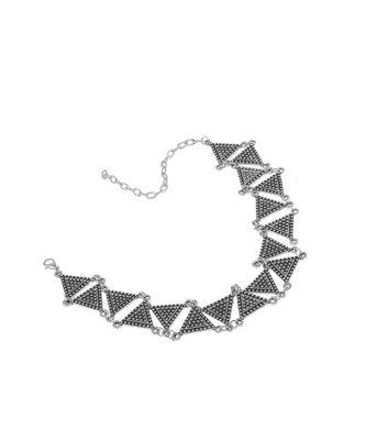 Metallic Triangular Choker