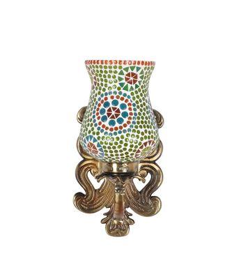 Metal Brass Polish Finish Fitting Mosaic Glass Wall Light Sconces Wall Decorations