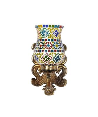Multicolor Mosaic Glass Wall Up Light Lamp for Home Living Room Office